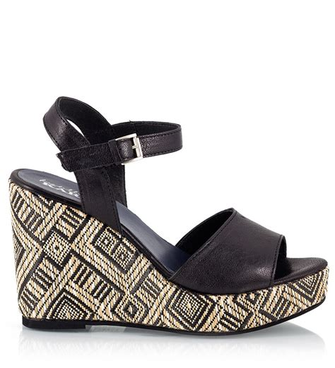 aztec pattern heels fratelli karida black leather ankle strap aztec pattern