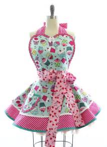 retro apron cherry cupcake sexy womans aprons vintage