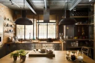 kitchen and home interiors industrial home with interior planting and transparent walls