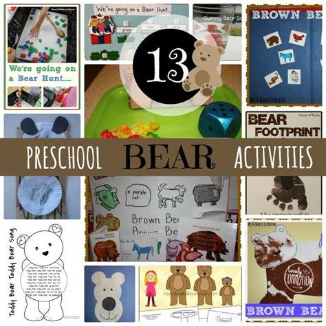 kindergarten activities bears 13 bear preschool activities disney preschool