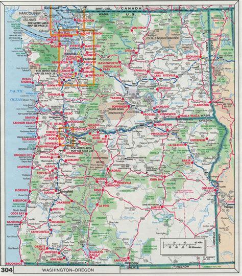 map  oregon  washington  travel information