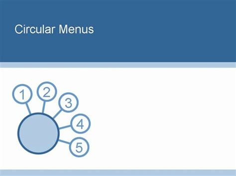 menu template powerpoint circular powerpoint menu template