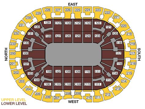 the q seating q arena seating chart quicken loans arena tickets in