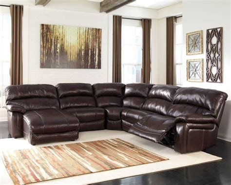Sectional Sofa With Chaise Lounge And Recliner Brown Leather Sectional Recliner Sofa With Chaise Lounge For Large Space Decofurnish