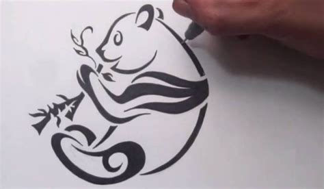how to draw a tribal tattoo design how to draw a panda tribal design style