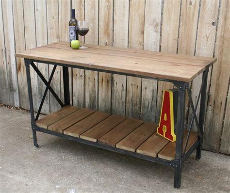 Handmade Industrial Furniture - custom handmade metal reclaimed wood industrial console