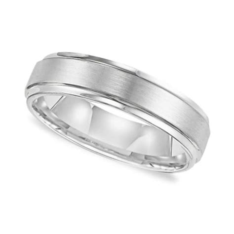 triton men s white tungsten carbide ring comfort fit
