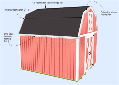 Shed Roof Drip Edge by Gambrel Shed Plans With Loft Shingles