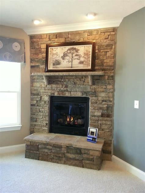 stacked fireplace new house wishes ideas