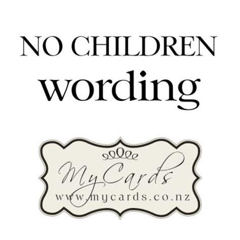 Wedding Invite No Children