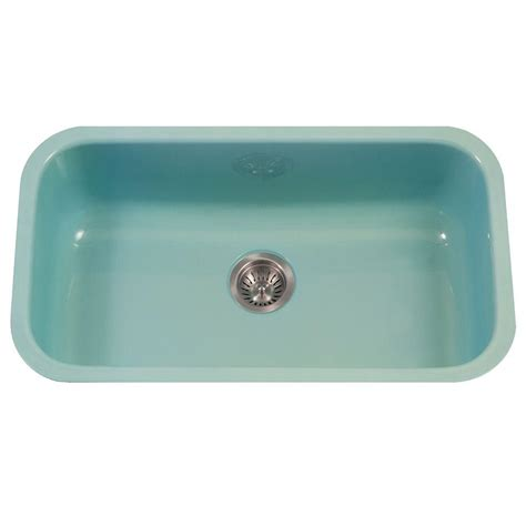 Porcelain Kitchen Sink Undermount Houzer Porcela Series Undermount Porcelain Enamel Steel 31 In Large Single Bowl Kitchen Sink In