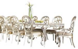 leg mirrored dining room american drew jessica mcclintock piece leg mirrored dining room set