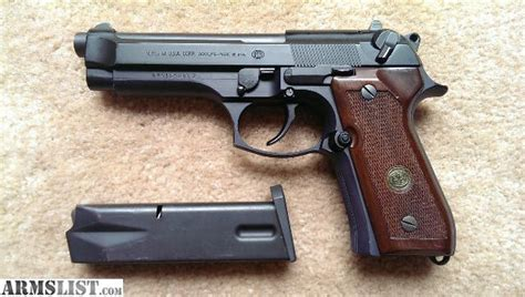 beretta 92fs wood grips armslist for sale beretta 92fs 9mm 15rd blued with wood