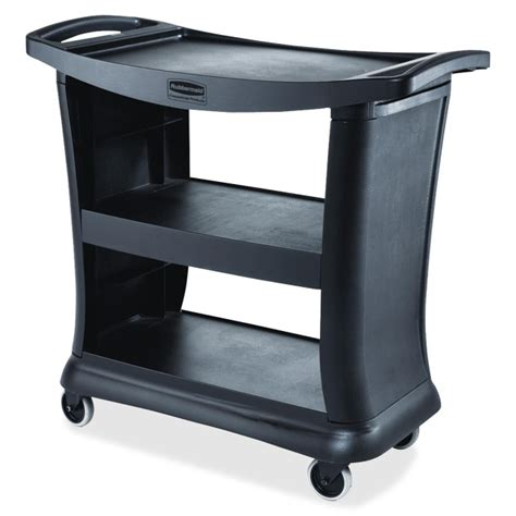 rubbermaid 9t68 executive service cart 3 shelf 300 lb
