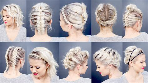 hairstyles that can be done with plats top 10 best short hairstyles 2016 milabu youtube