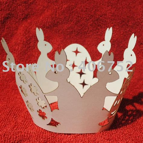 Laser Cutter For Paper Crafts - laser cut paper craft quot happy rabbit year quot cupcake wrapper