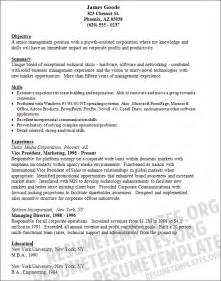 marketing resumes templates resume templates vice president sle resume