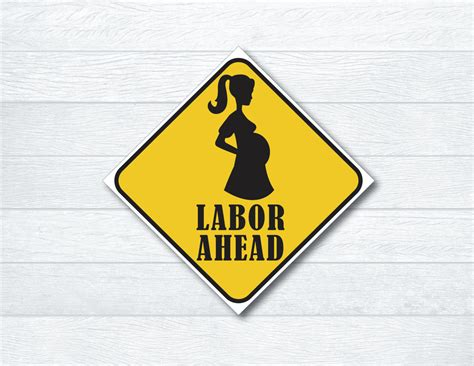 labor signs labor ahead sign construction themed baby shower sign