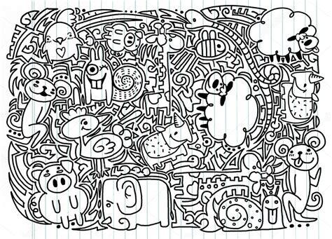doodle vans tekeningen doodle dieren vector stockvector 117099404