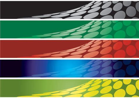 abstract banner background set 3 123freevectors