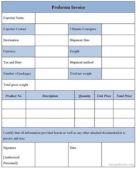 proforma invoice sample download form dhlmplate fedex pdf free