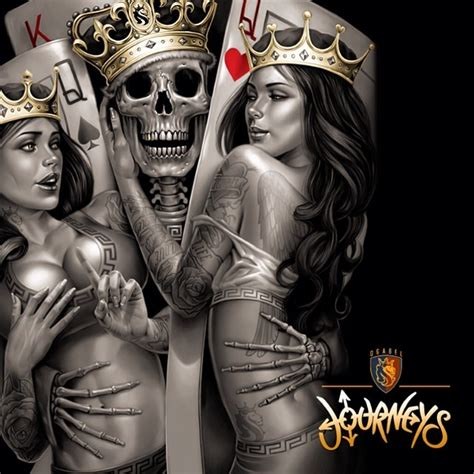 tattoo king queen cards skull playing cards aces google search skull tattoos