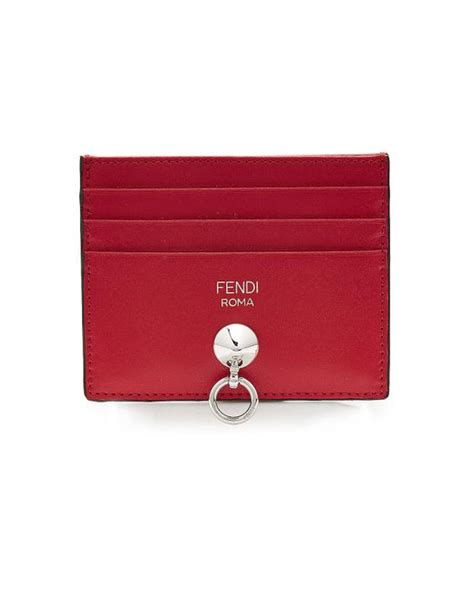 Fendileather Card Holder by Fendi Leather Card Holder In Lyst