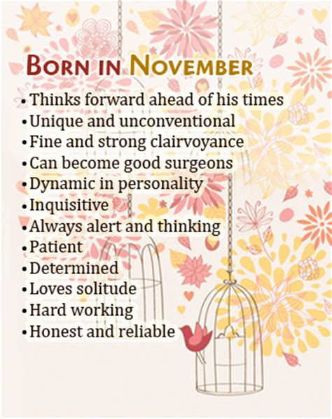 Birth Month Says About You