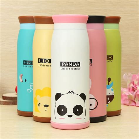 Botol Minum Stainlis Stainless Animal Bottle Termos colourful thermos insulated mik water bottle