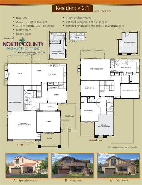 homes for sale with floor plans altaire floor plan 2 1 new homes for sale in san elijo