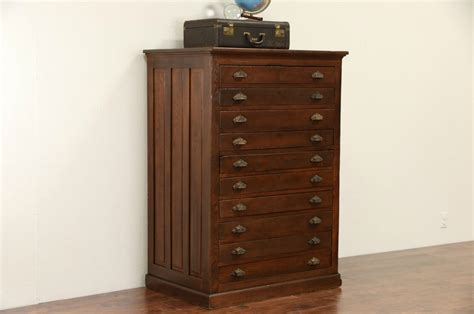 10 drawer map cabinet sold map chest or drawing file cabinet 1900 oak 10