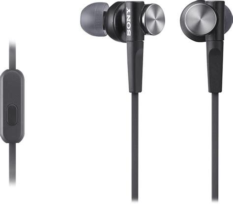 Headset Headphone Earphone Sony Q014 Black sony earbud headphones black mdrxb50ap b best buy