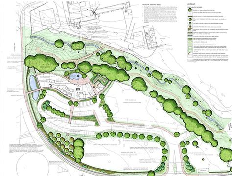 industrial layout and landscape planning and management landscape architecture organic space