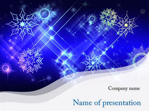 Download Free White Snowflakes Powerpoint Template For Presentation Eureka Templates Themed Powerpoint Template