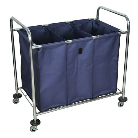 Luxor Furniture Hl15 Heavy Duty Laundry Cart W Removable Laundry With Removable Bag