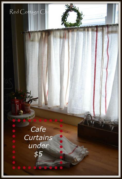 Cafe Curtains Ikea Ikea Dishtowel Hack Cottage Chronicles