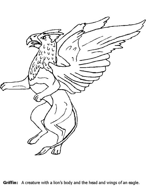 Greek Mythology Coloring Pages Barriee Griffin Coloring Pages