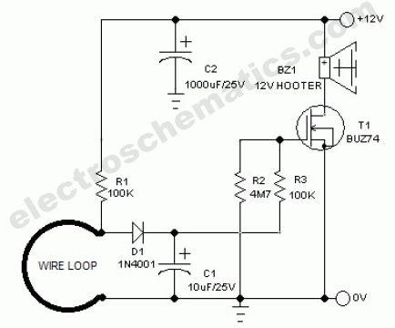 tilt sensor alarm circuit