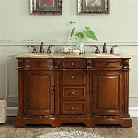 58 sink vanity 6314tw58d 58 sink vanity travertine top cabinet