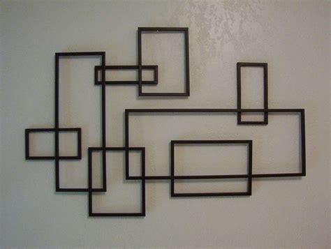 modern wall hanging mid century modern de stijl style geometric metal wall