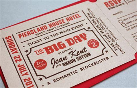 Wedding Invitation Yield by Cinema Themed Letterpress Wedding Stationery Uk