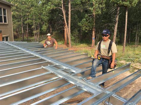 steel frame  wood frame  creation decks colorado