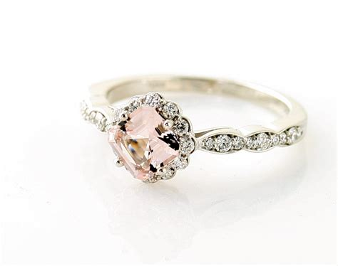 Vintage Rings by Morganite Engagement Ring