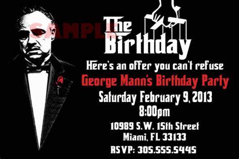 godfather themes godfather birthday invitation by rowzsmith on etsy 13 00