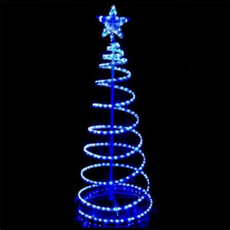 Outdoor Led Blue And White Rope Light 3d Spiral Christmas Rope Light Spiral Tree