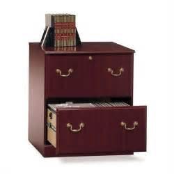 Wood Lateral File Cabinet 2 Drawer Bush Saratoga Executive 2 Drawer Lateral Wood File Cherry Filing Cabinet Ebay