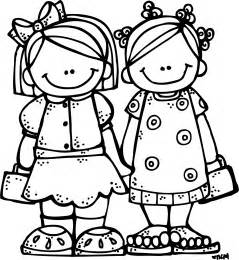 sisters black and white clipart clipart suggest