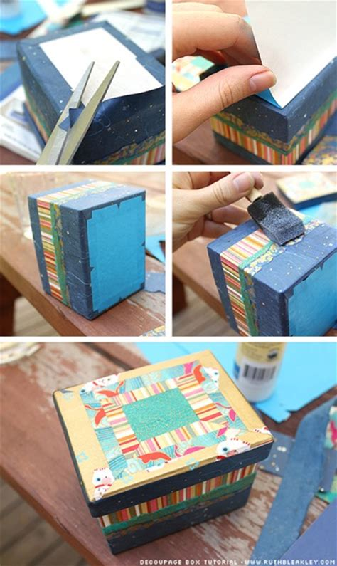 decoupage paper tutorial striped paper box tutorial paper scrap buster guest