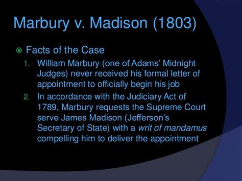Explanation Of Jefferson S Letter To The Danbury Baptists the marshall court