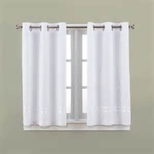 White Bathroom Window Curtains Hookless 174 Escape 45 Inch Bath Window Curtain Panels In White